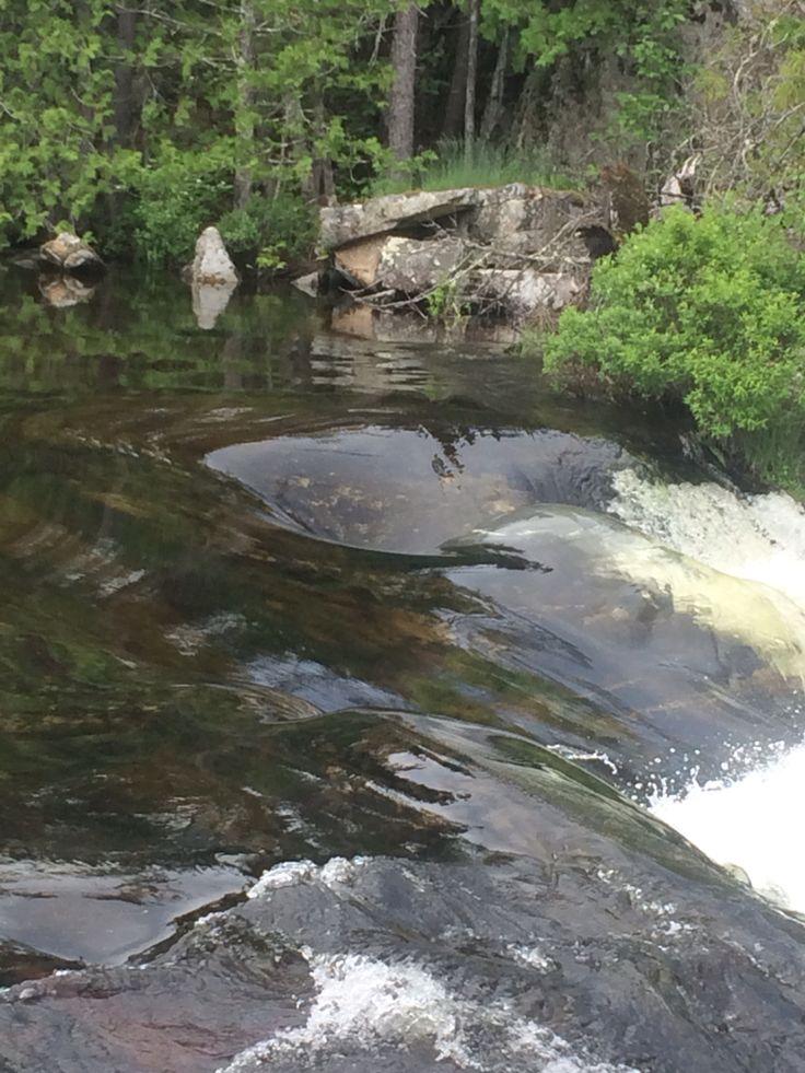Boundary waters waterfall