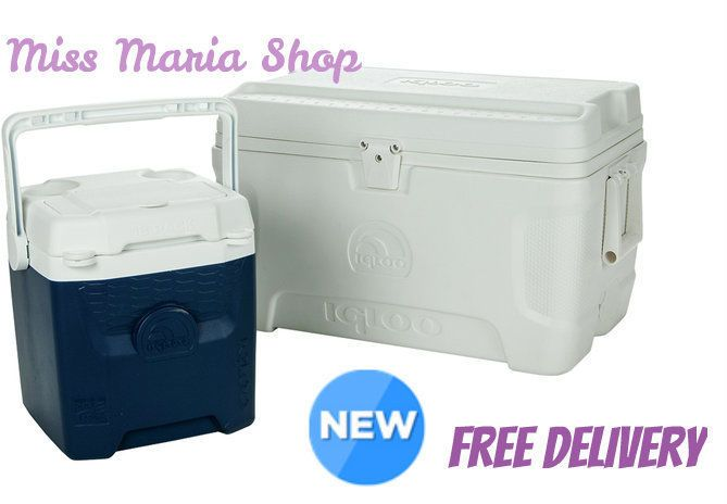 Igloo Cool Chest COOLER Ice Box Fridge Portable Cans Food Camping Beach Work X2