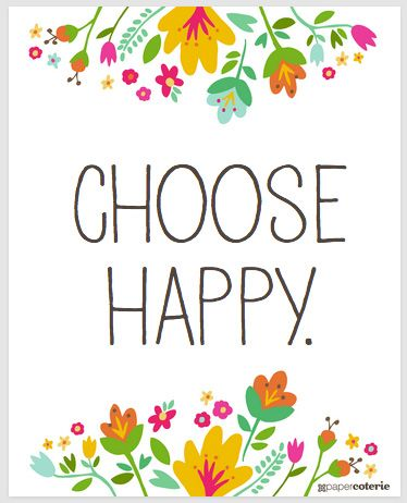 """Free """"Positivity Spreads Happiness"""" printables.  http://www.papercoterie.com/blog/free-spring-printable-download/"""