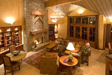 Crosswater Ski Lodge traditional-living-room