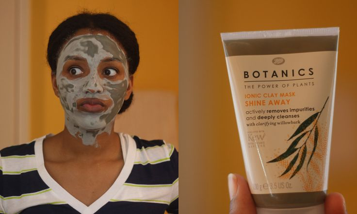 Boots Botanics Shine Away Clay Mask  Demo and Review