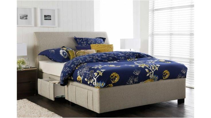 Jett Queen Bed with 4 Drawer Storage Base - Beds & Suites - Bedroom - Beds & Manchester | Harvey Norman Australia