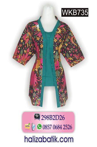 Blus batik model kebaya Rp 90.000,- http://grosirbatik-pekalongan.com/blus-wkb735/