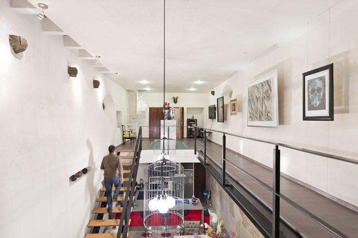 Hacienda San Antonio | Dionne Arquitectos + Posada Arquitectos #stairs #lighting #indoor #architecture