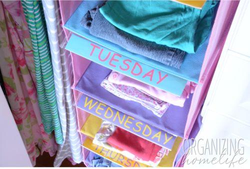 Best 25 Weekly Clothes Organizer Ideas On Pinterest Kids Clothes Organization Bedroom Boys