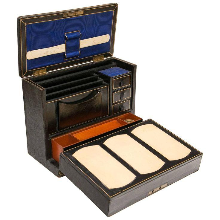 Victorian Period Leather Travelling Writing Case. Modern Desk  AccessoriesDesk SetAntique ... - 70 Best Desktop Images On Pinterest Desks, Desk And Desk Accessories
