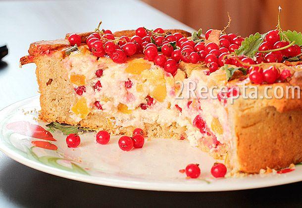 Творожный пирог с красной смородиной пошаговый фото рецепт