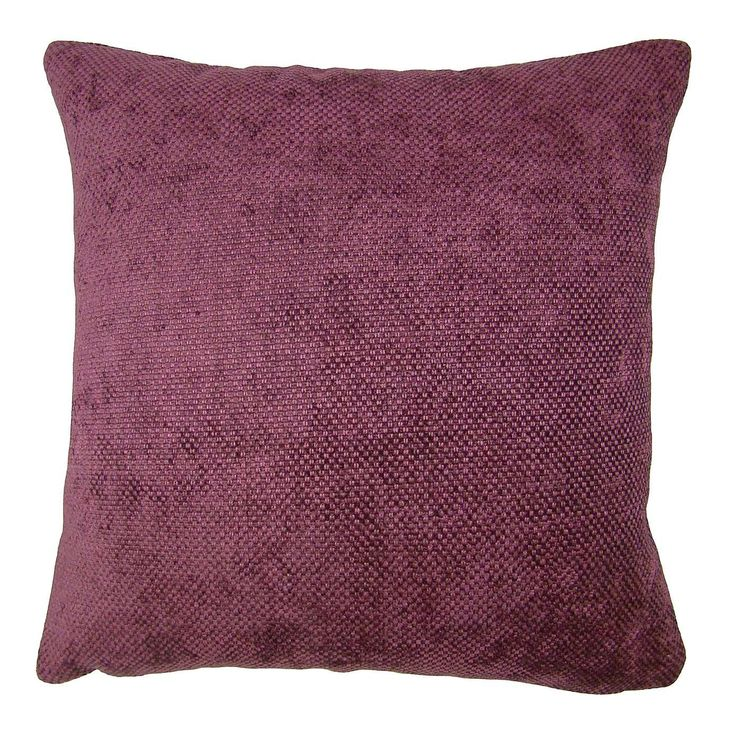 Large Orlando Plum Cushion Cover | Dunelm