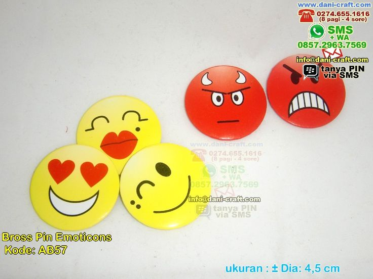 Bross Pin Emoticons Telp/SMS/WA: 0813.2660.1110 (Telkomsel) 0857 4384 2114 (Indosat) 0896.296.77.660 (Tri) 0819.0403.4240 (XL)  PIN BBM: 59E 8C2 B6. WA/ SMS Center: 0857.2963.7569  #BrossPin #TokoPin #souvenirPernikahan