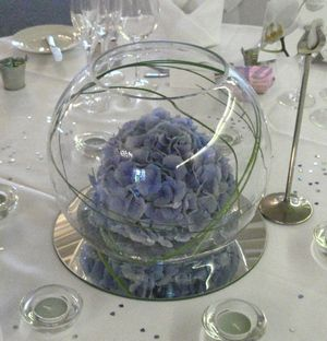 145 best fish bowl ideas images on pinterest floral for Vase plat centre de table