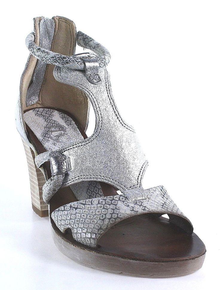 Mjus | Damen Sandalette | silber  #shoes #shoelove #fashion #silver