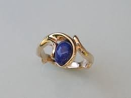 sapphire and gold ring