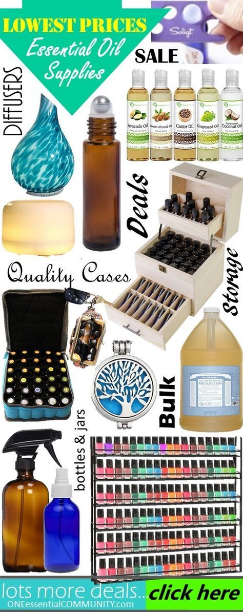 Essential Oil Deals & Finds {diffusers, cases, rollerballs, bottles, jars and more essential oil accessories
