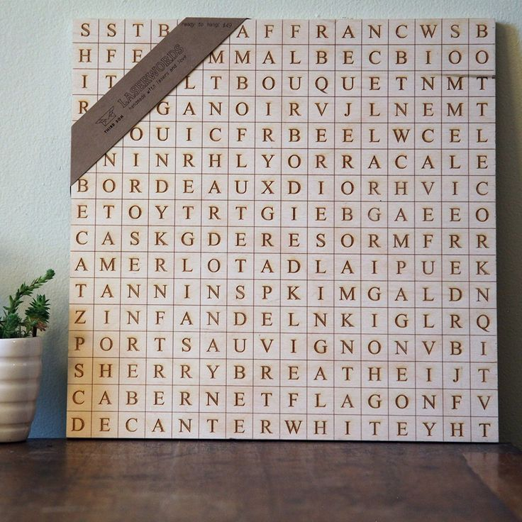 Brighten up your home with a LaserWords art piece and enjoy trying to find over 42 hidden words on the topic of your choice Choose from our selection of popular topics or we can create your own personalized LaserWords at no extra cost Just give us a topic like a city or a hobby or a list of words and we ll do
