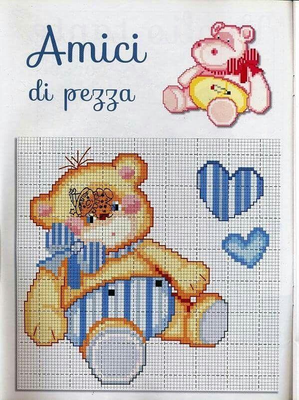 #bear  Punto croce