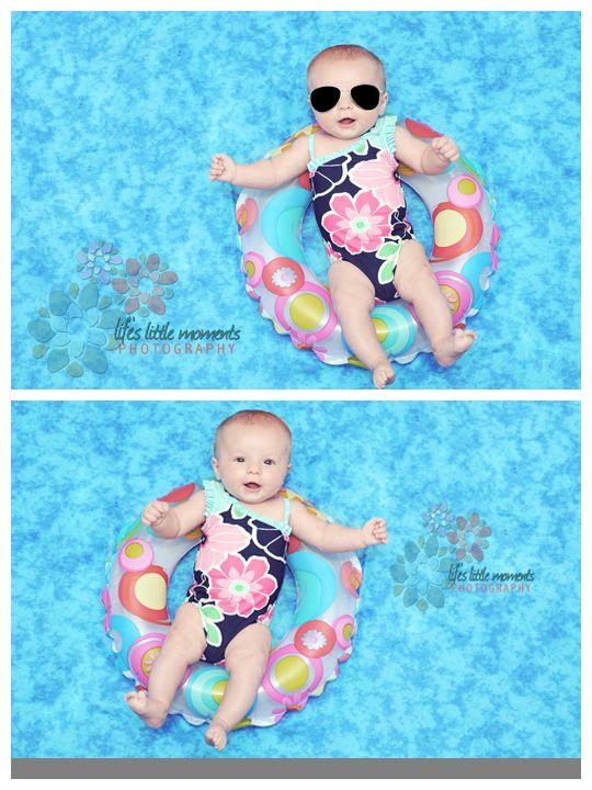 Newborn Pictures - Girls turn to 'swim'.