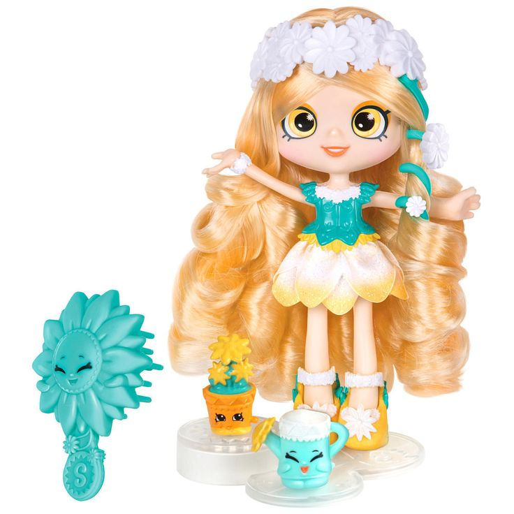 Introducing all new Shoppies, ready to show off their style!<br><br>A down to earth girl, Daisy Petals understands the power of flowers and is always showering other Shoppies with blooming wonderful gifts! Picking a bunch of her best friends and playing in the garden is what Daisy Petals loves to do! <br><br>Daisy Petals comes with a hair brush, 2 Exclusive Shopkins (her BFFs!), a purse, a doll stand, and a VIP card that unlocks bonus content in the Welcome to Shopvil...