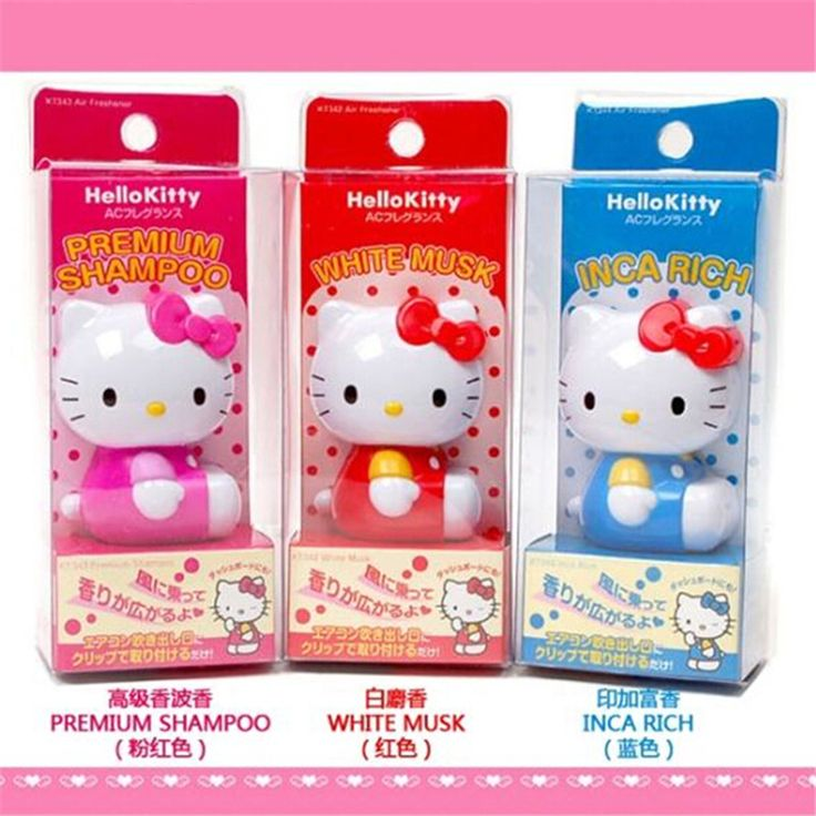 1 STÜCK HELLOKITTY KT cartoon auto parfüm Hallo Kitty auto steckdose parfüm auto Parfüm Feste