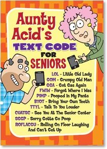 Birthday Card - And for blowing out your candles...HOH.  Have Oxygen Handy! | Aunty Acid | 2003787-P | Leanin' Tree