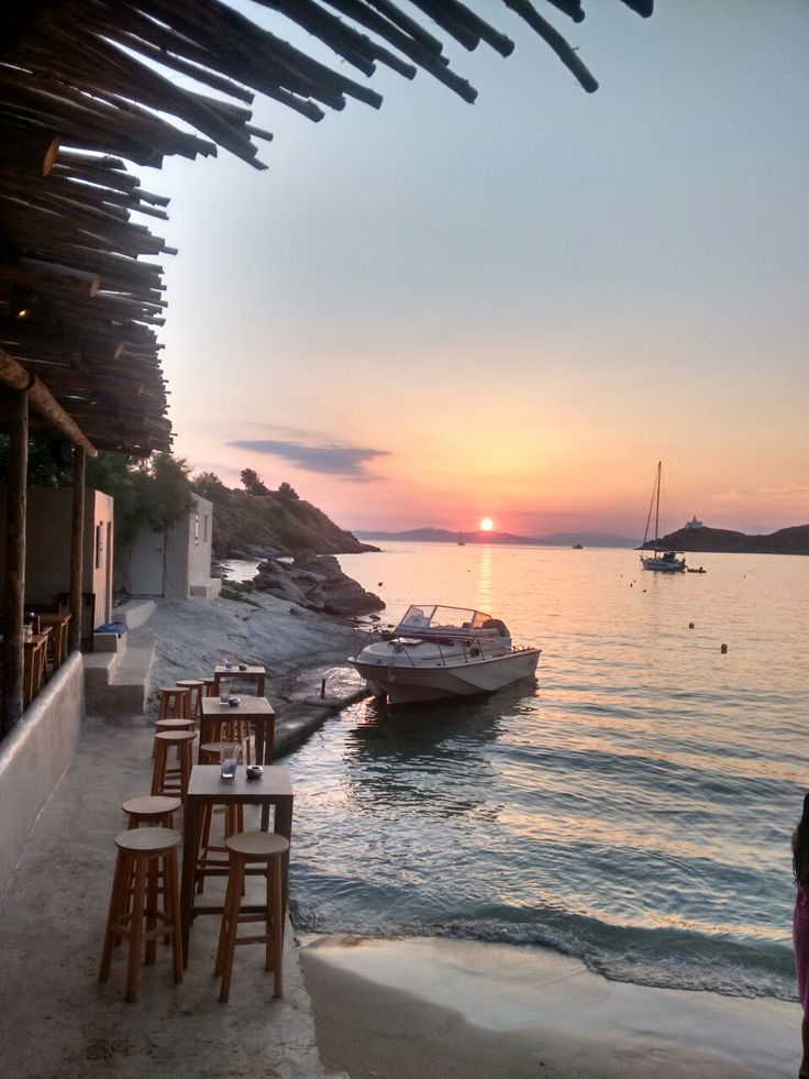 Kea, Cyclades Greece. Eora beach bar..