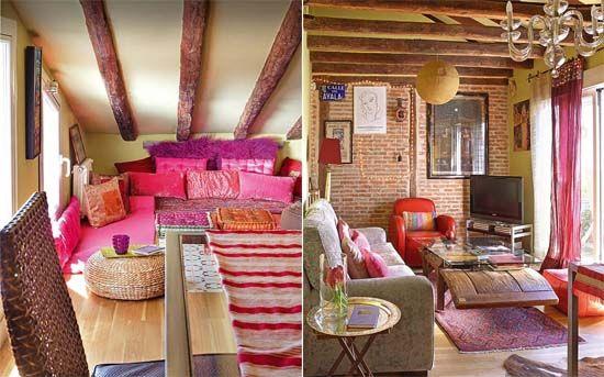 Bohemian Style Interiors Living Rooms And Bedrooms: Small Bohemian Feminine Apartment In Paris