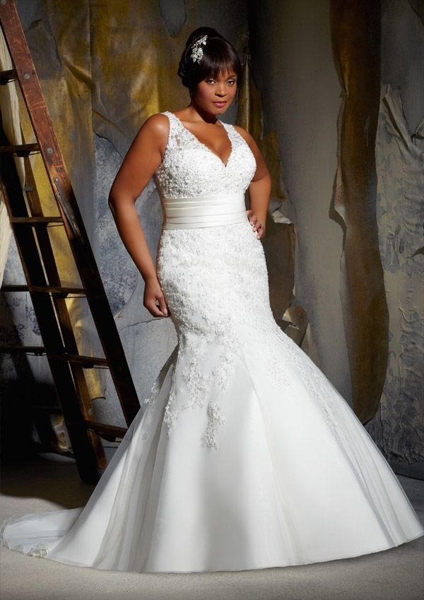 Fresh Plus size wedding Dress From Julietta By Mori Lee Dress Style Embroidered Lace on Net