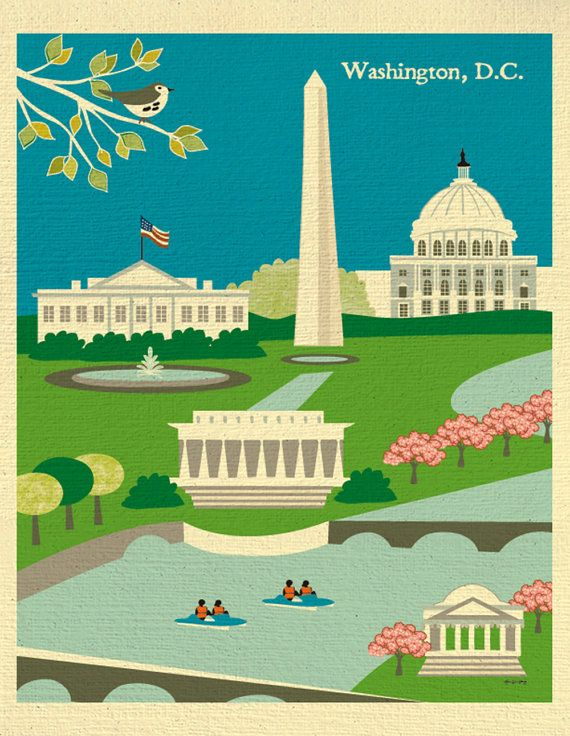 ARTIST INSPIRATION: Ive always been intrigued by D.C. I went there for the first time and was mesmerized by the pristine city of monuments. I did a
