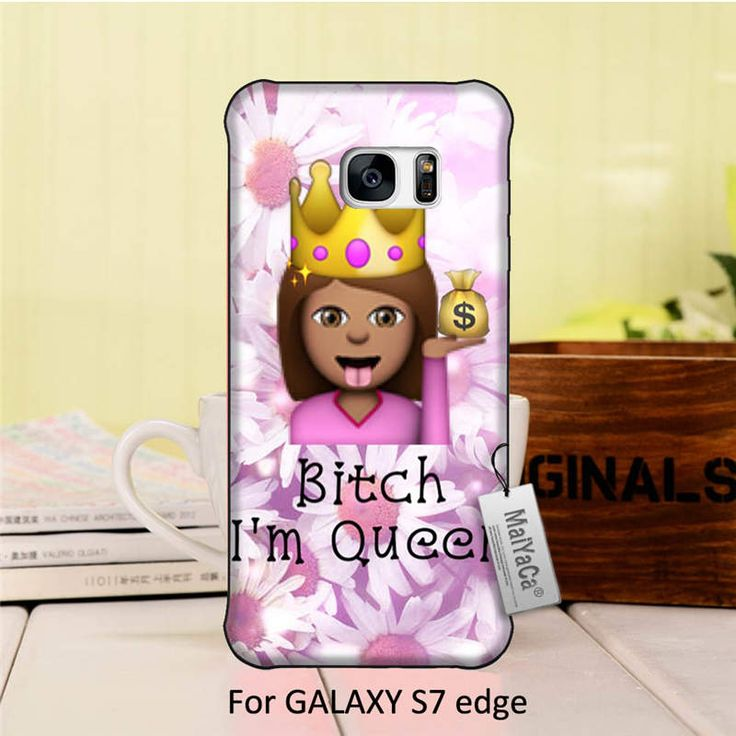 Amazing landscape hard pc Black Phone Case Fashion Funny Emoji PINK Queen Bitch Design For GALAXY s7 edge case