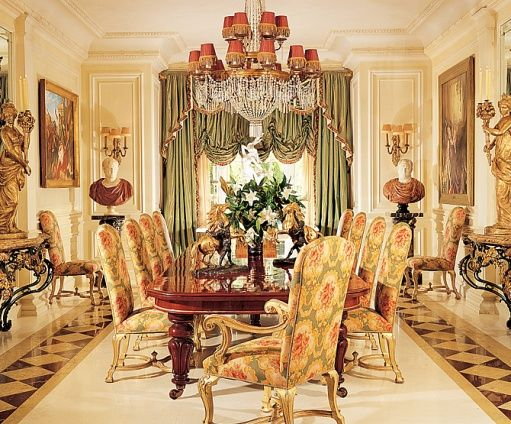 Fesselnd Rod Stewartu0027s Lavish And Opulent Formal Dining Room Filled With Gold  Accents!