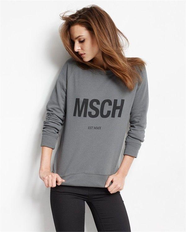 MSCH-sweatshirt (Grey/Black)