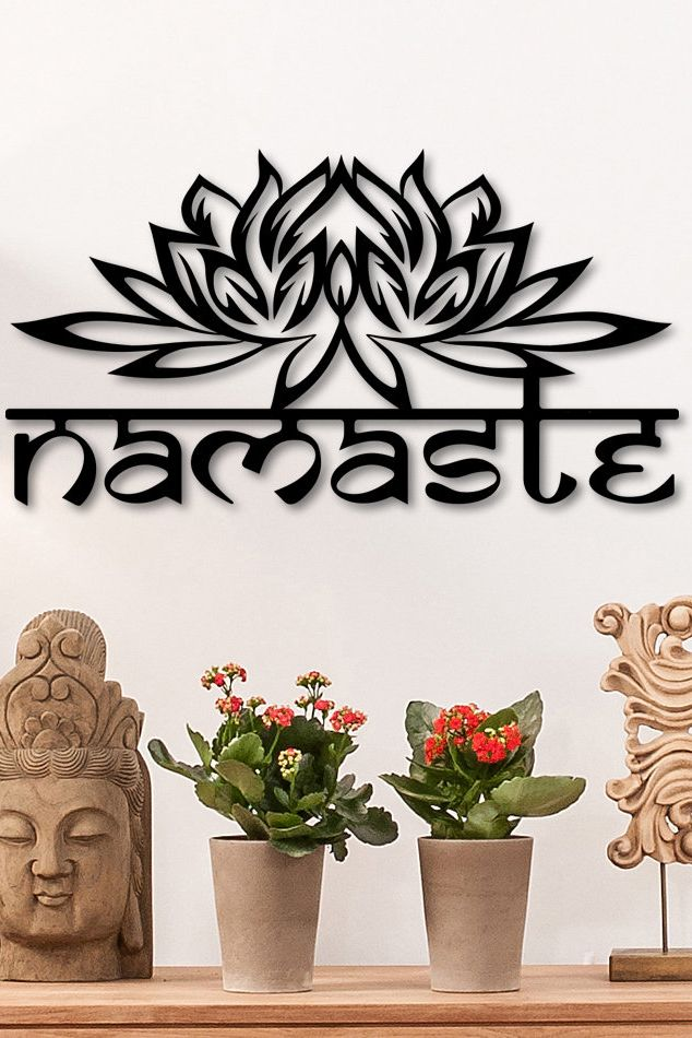 Ditcowest Metal Wall Art Namaste Design Yoga Geometric Metal Etsy In 2021 Unusual Wall Art Metal Wall Art Wooden Wall Art
