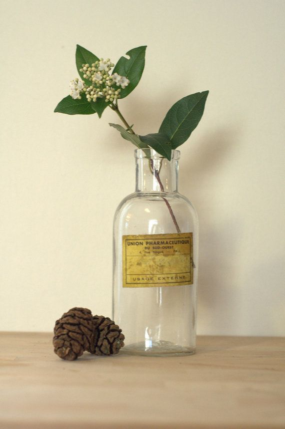 French Apothecary Bottle by PrettiePlease on Etsy, €14.00