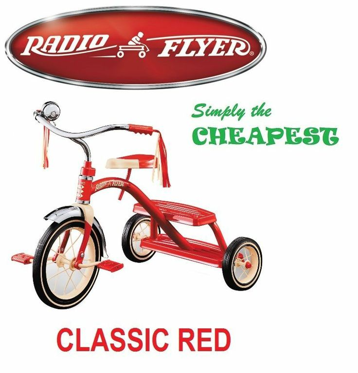 RADIO FLYER CLASSIC RED DUAL DECK TRICYCLE FOR KIDS BIKE CHILDREN