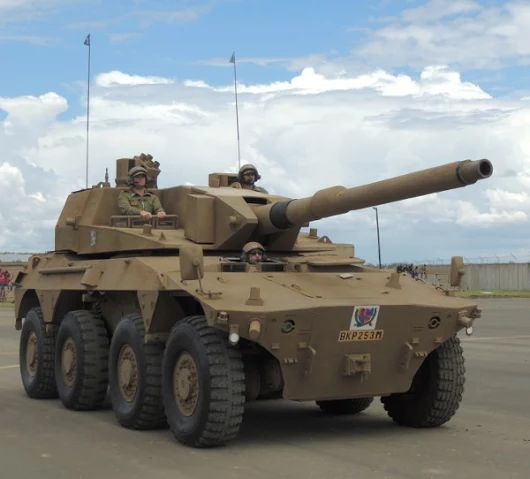 Rooikat  105mm gun South Africa Army