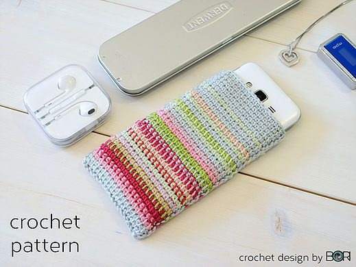 crochet phone case pattern, diy, easy, colorful, cotton, yarn, hanmade, with love,