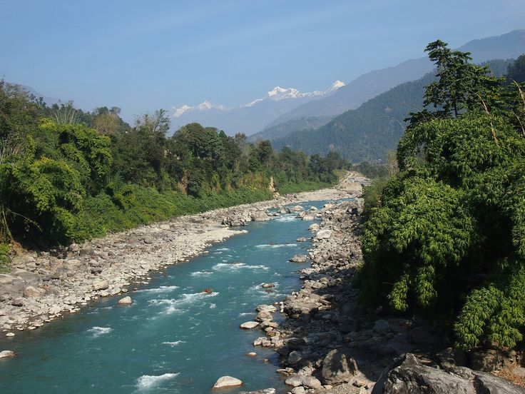 Located between the Dhaulagiri and Annapurna mountain ranges, the Gandaki River flows through the village of Saligrama or Muktinath and the Ashrama of Pulaha. In ancient times, the mountain range surrounding Pulaha was called Salagiris due to the vast forests of Sala (sal) trees.
