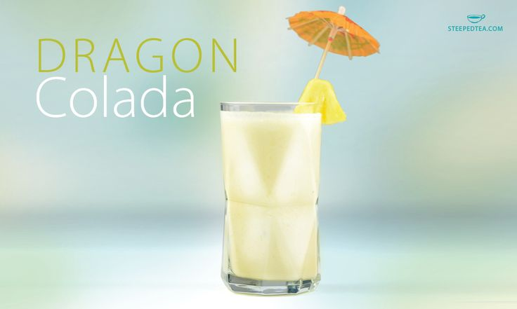 Dragon Colada Recipe type:Cocktail Serves:1  Infuse Steeped Tea's Pink Dragon fruit tea into coconut milk and you'll have a fresh and light colada. Perfect for any cocktail party! Ingredients 1 ½ cups pineapple cubes ½ cup coconut milk ½ cup Pink Dragon Fruit Tea 2-3 tsp honey 1.5 oz. …
