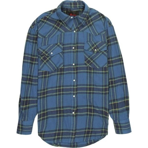 Stoic Mesa Western Flannel Shirt ($18) ❤ liked on Polyvore featuring men's fashion, men's clothing, men's shirts, men's casual shirts, mens casual button down shirts, mens green flannel shirt, mens flannel shirts, mens long sleeve button up shirts and mens casual long sleeve shirts