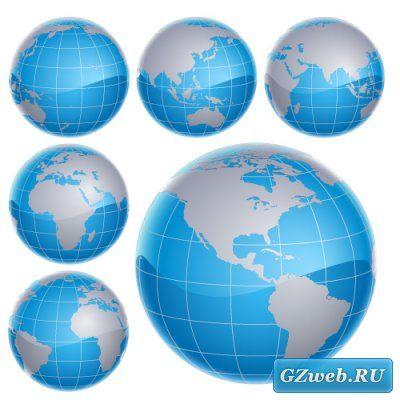 3D Глобус (Вектор EPS)