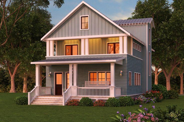 Craftsman Style House Plan - 3 Beds 3 Baths 2830 Sq/Ft Plan #888-12 Exterior - Front Elevation - Houseplans.com