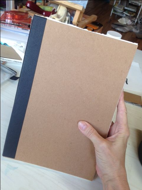 So as I said in my post yesterday, one way I want to make this journal different is by making it bigger. This is the standard journal size that I like to make. It's big enough to have lots of…