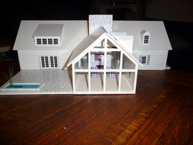 exterior of my dream house showing the great room and the patio the front entrance - Dream House Model