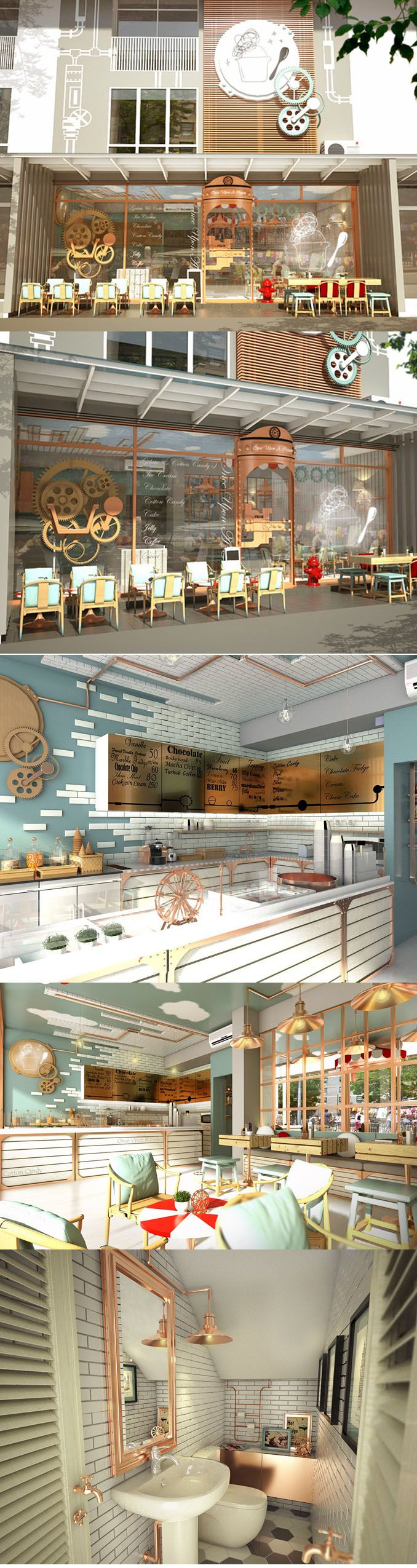 Once Upon A Cream ice-cream shop by MADA, Hua Hin – Thailand.