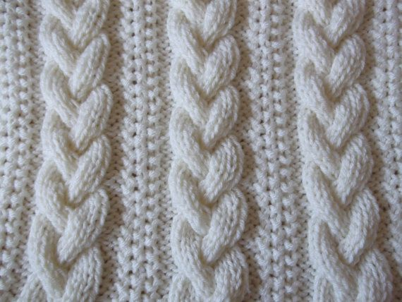 Braided Cable Baby Blanket / Basket stuffer / by DaisyGrayKnits