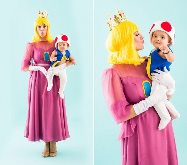 Pair up with your little one for these Mario Cart-inspired costumes.