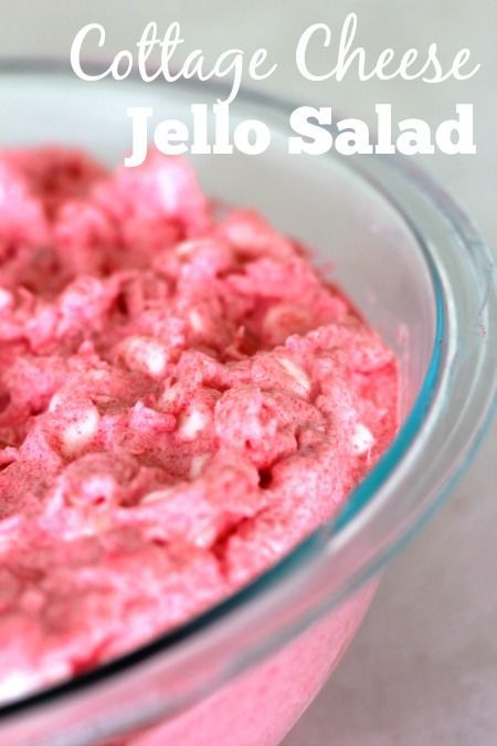 This easy cottage cheese Jello salad is an easy side dish to make for summer…
