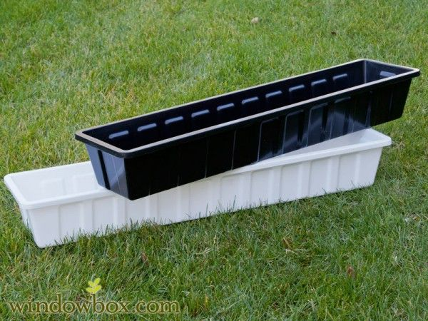 Heavy Duty Poly-Pro Flower Box Liner - great idea for changing out boxes for a season, tulips- spring, impatiens-summer, mums-fall, evergreens-winter