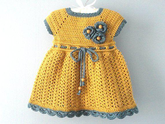 f413a23e0653 Crochet PATTERN Baby Dress Baby Girl Pattern Crochet Newborn Outfit ...
