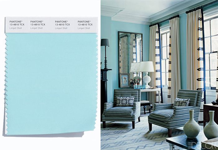 A soft blue evocative of the sky is undeniably pretty, whether it's used to dress up the walls in a living room or to cover the bed in a guest room. See more rooms with inspiring window treatments.