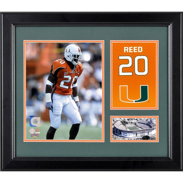 "Ed Reed Miami Hurricanes Fanatics Authentic Framed 15"" x 17"" Campus Legend Collage - $59.99"